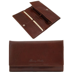 Exclusive leather accordion wallet for women TL140787 Women Bags Tuscany Leather