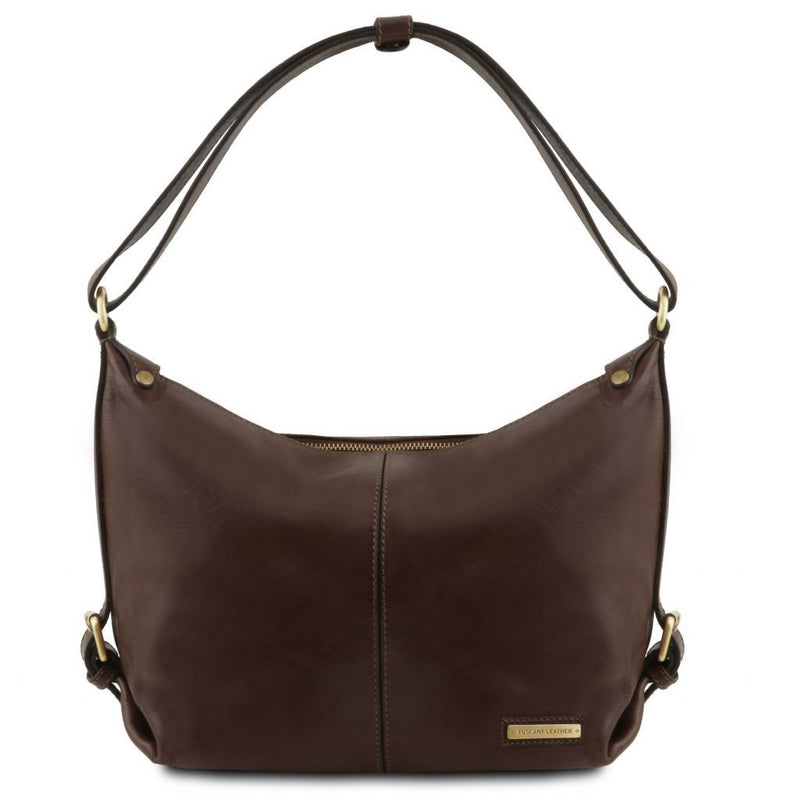 Sabrina - Leather hobo bag TL141479 Women Bags Tuscany Leather