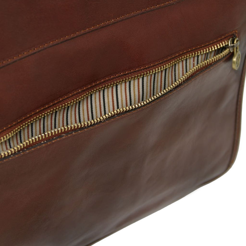 Vernazza - Leather briefcase with Laptop compartment 3 compartments TL141354 Business Tuscany Leather