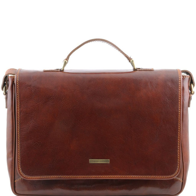 Padova - Exclusive leather laptop case TL140891 Tuscany Leather - getanybag.com