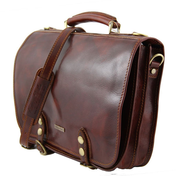 Capri - Leather messenger bag 2 compartments TL10068 Business Tuscany Leather