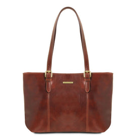 Annalisa - Leather shopping bag with two handles TL141710 - Getanybag
