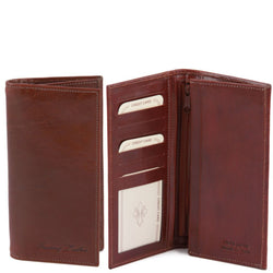 Exclusive vertical 2 fold leather wallet for men TL140777 Men Bags Tuscany Leather