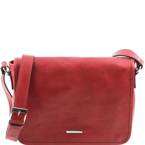 TL Messenger - One compartment leather shoulder bag - Medium size TL141301 Tuscany Leather - getanybag.com