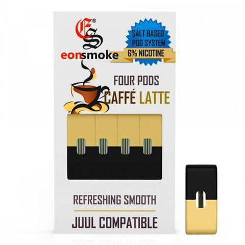 EON Pods - JUUL Compatible Refill Pod - Caffe Latte (4 Pack)