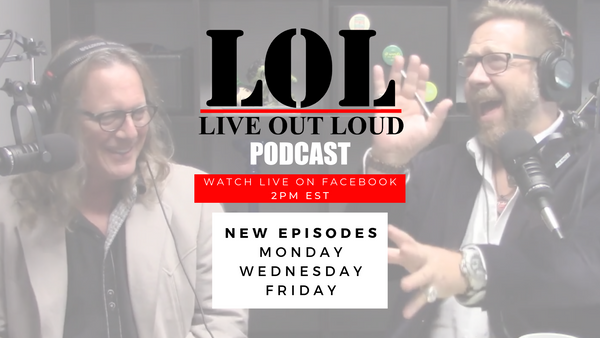 live out loud podcast facebook live promo image