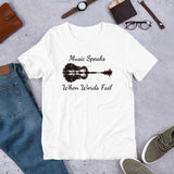 """Music Speaks"" Short-Sleeve Unisex T-Shirt"