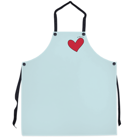 Puppini Love Apron - Light Blue