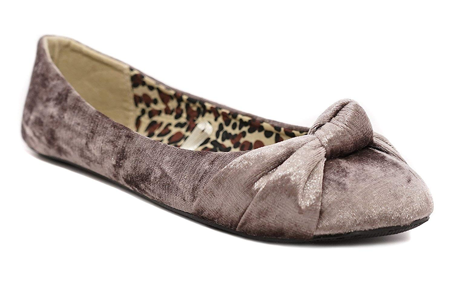 3f0b4714b66f Charles Albert Women s Knotted Front Canvas Round Toe Ballet Flats