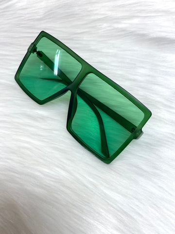 """Catching Flights"" Sunglasses - Green - shopkultuur"