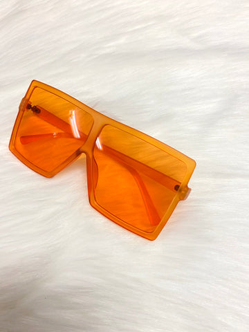 """Catching Flights"" Sunglasses - Orange - Officially Conceited"