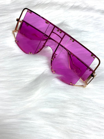 """The Don 2.0"" Sunglasses- Purple - Officially Conceited"