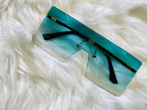 """Miami Vice"" Sunglasses - Teal - Officially Conceited"