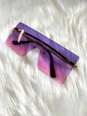 """Miami Vice"" Sunglasses- Purple/Pink - shopkultuur"
