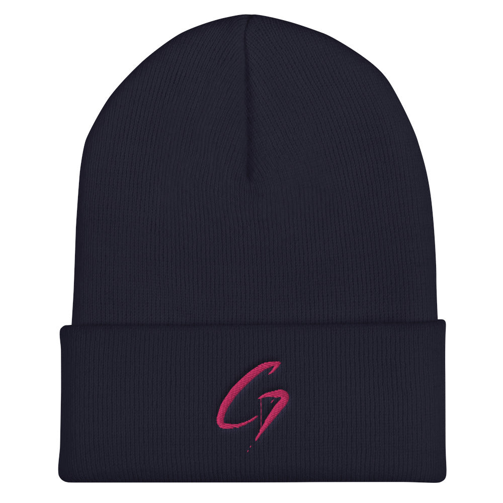 Cuffed Beanie purple G.