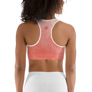 Sports bra light coral