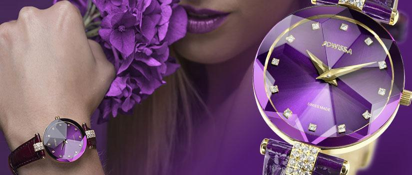 Facet Strass Collection Jowissa Watches Swiss Made Watch faceted unique diamond sparkle shine ladies timepiece colorful jewellery accessories Switzerland