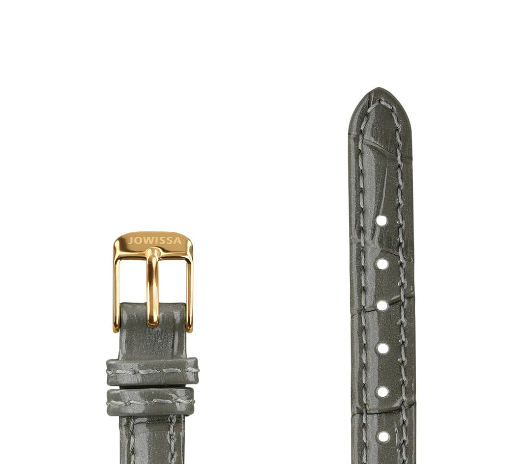 Leather Watch Strap Glossy Croco E3.1468.S