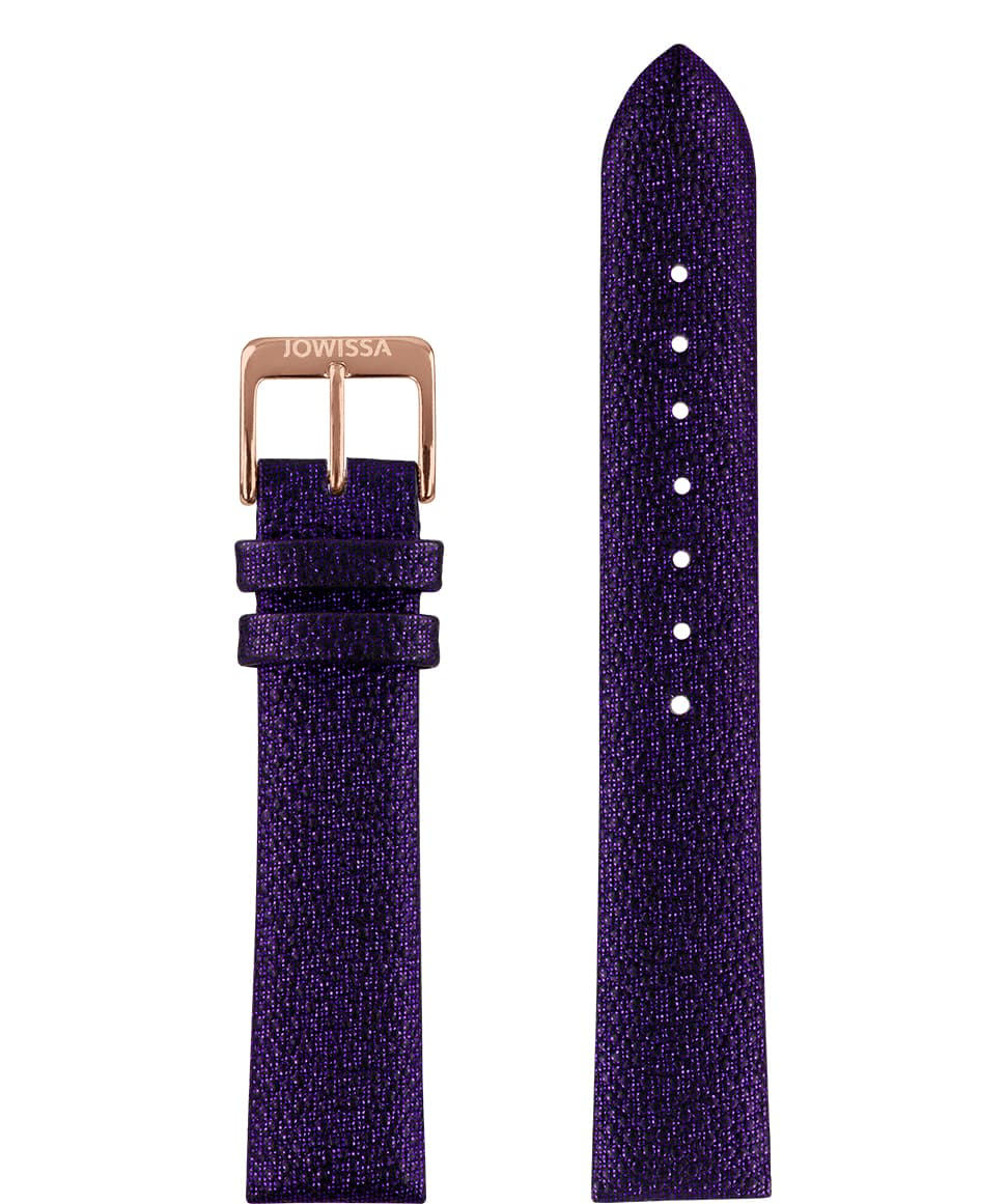 Front View of 18mm Purple / Rosa Stingray Watch Strap E3.1114 by Jowissa