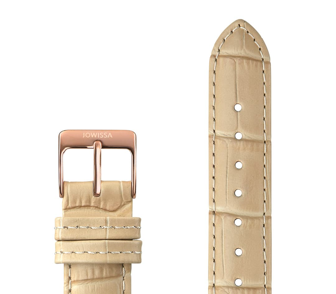 Mat Alligator Leather Watch Strap E3.1159