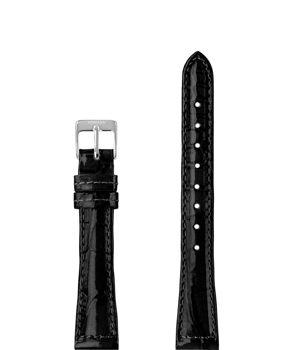Leather Watch Strap Glossy Croco E3.1445.M