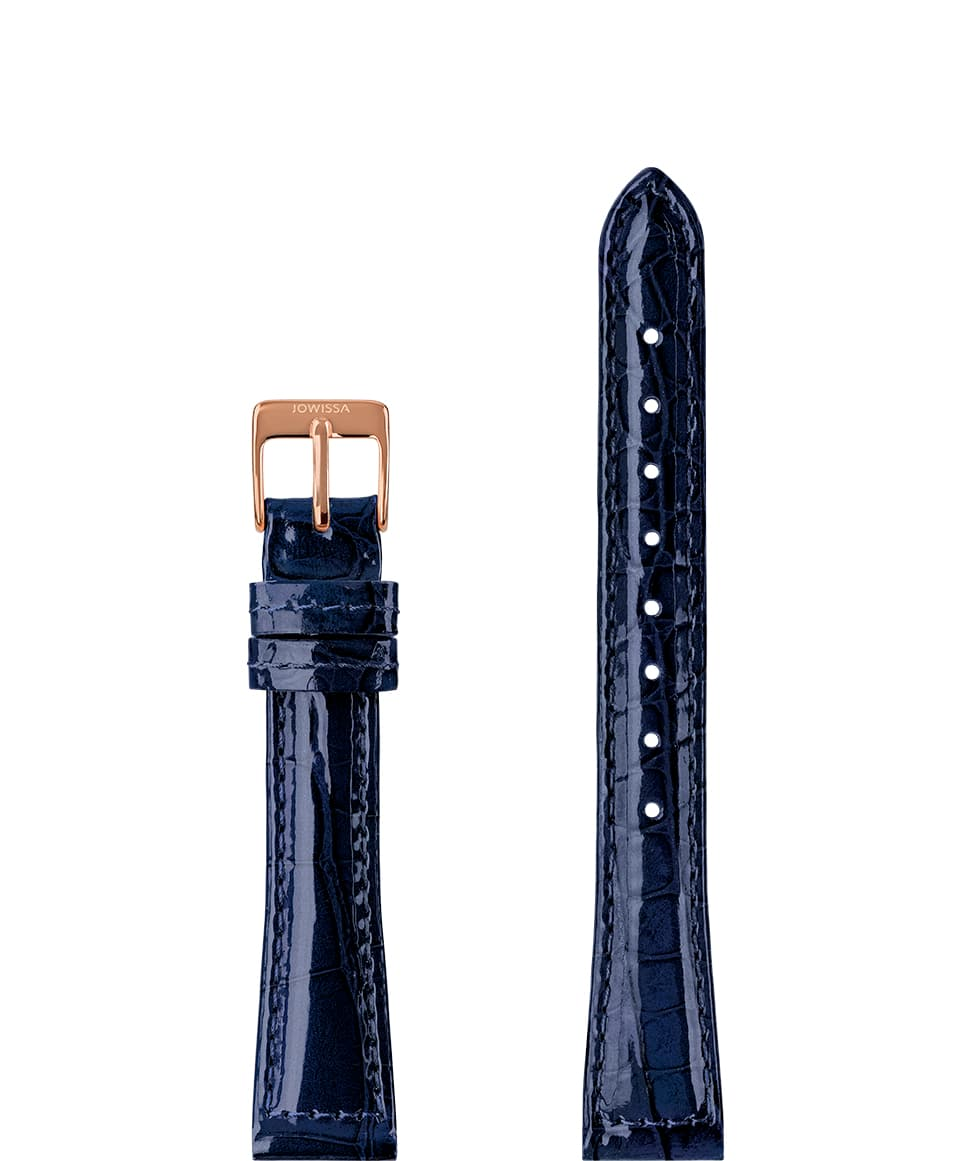 Leather Watch Strap Glossy Croco E3.1452.M