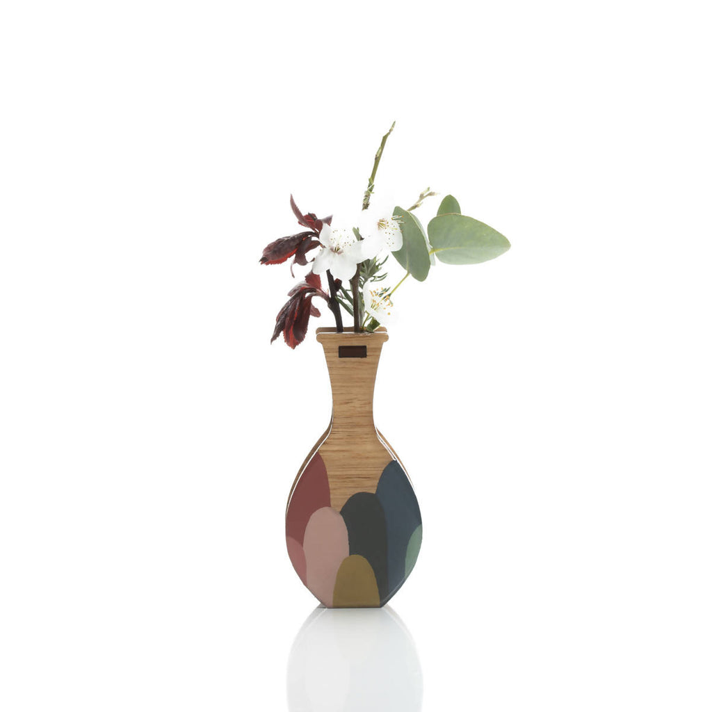 Small handmade vase: melody. Wall mount or freestand.