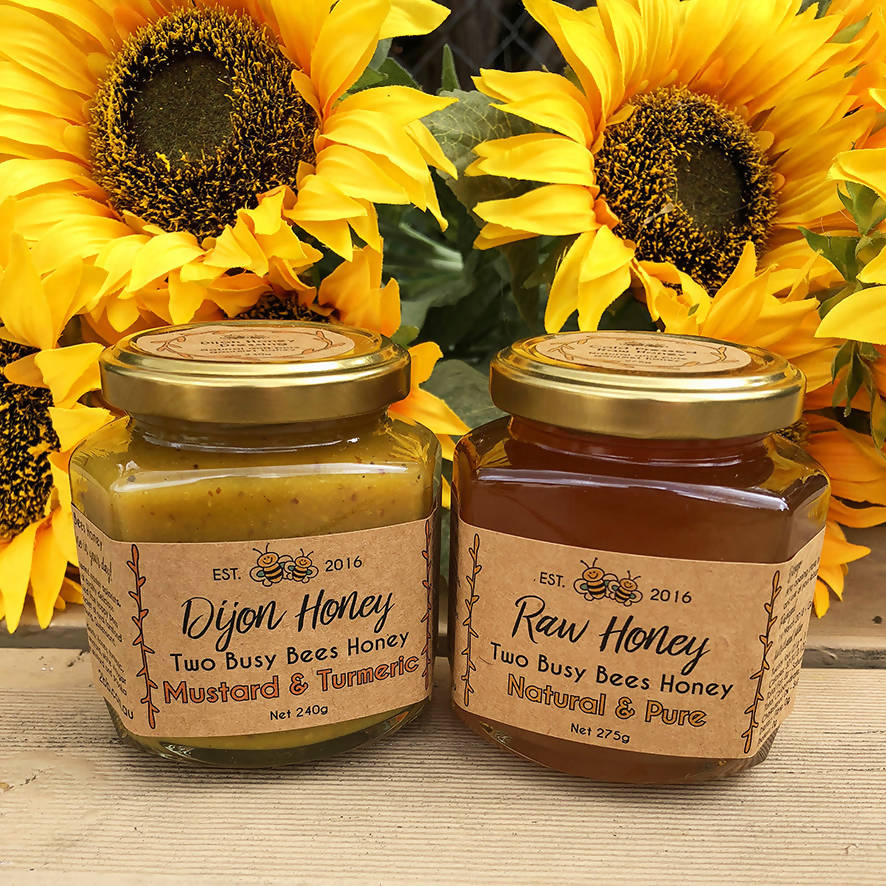 Dijon Honey Mustard Dressing and Pure Raw Honey - Two Jar Set