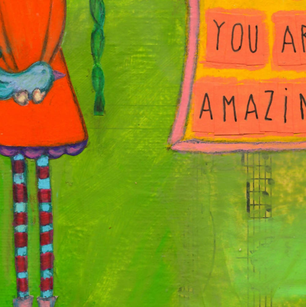 YOU ARE AMAZING A4 Art Print