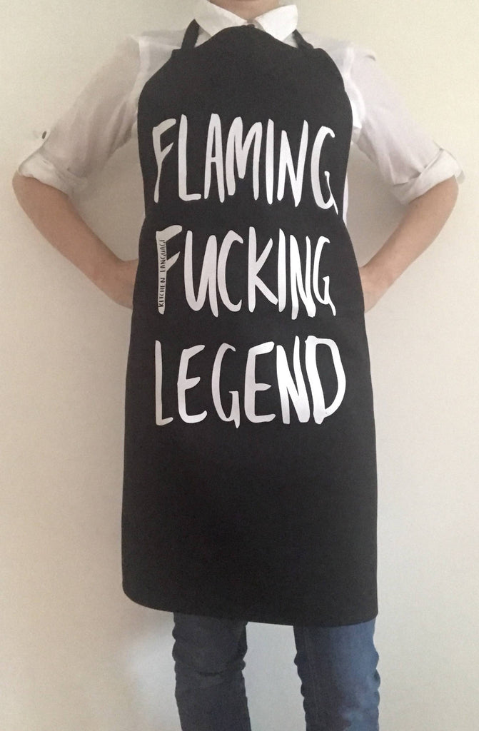 Flaming Fucking Legend Apron