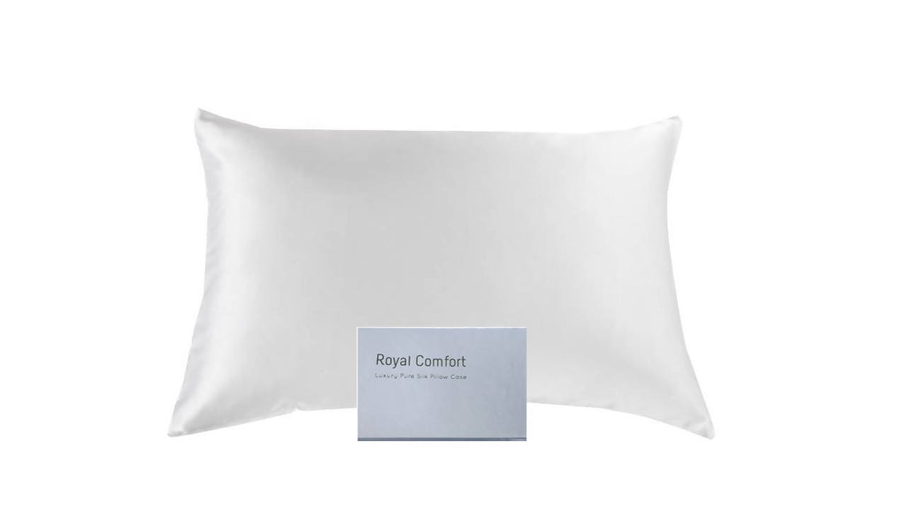 Mulberry Silk twin pillowcases - White (free shipping)