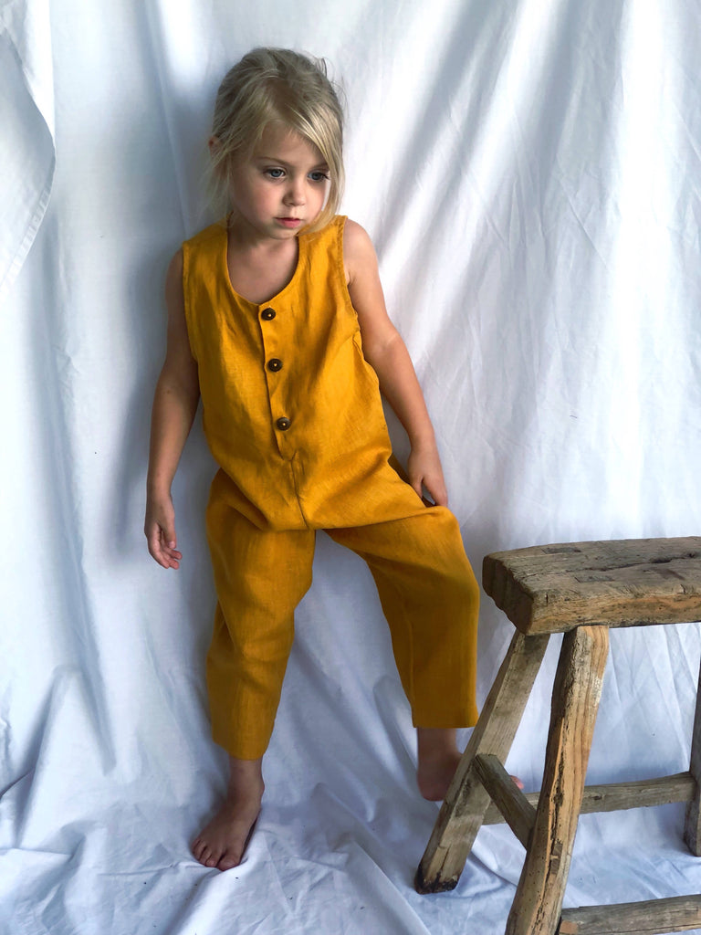 Terre Jumpsuit - Mustard yellow