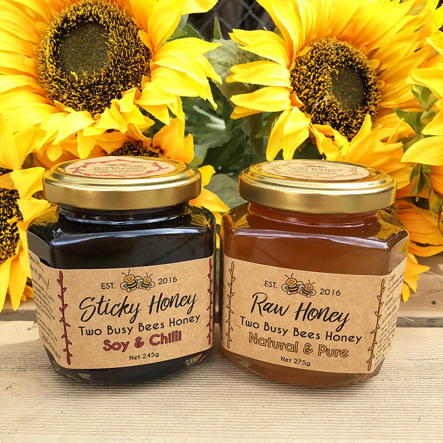 Honey Chilli Soy Dressing and Pure Raw Honey - Two Jar Set
