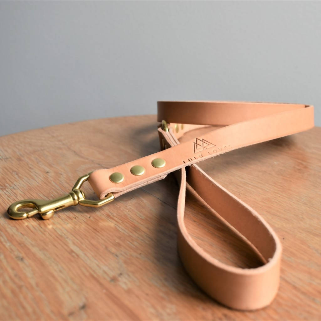 'Plain Dane' Leash - Natural