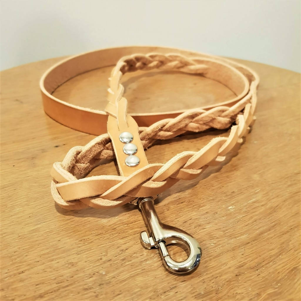'Braid Envy' Leash - Natural