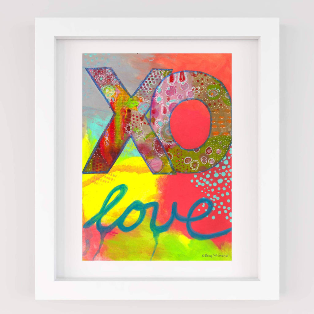 XO LOVE A4 Art Print