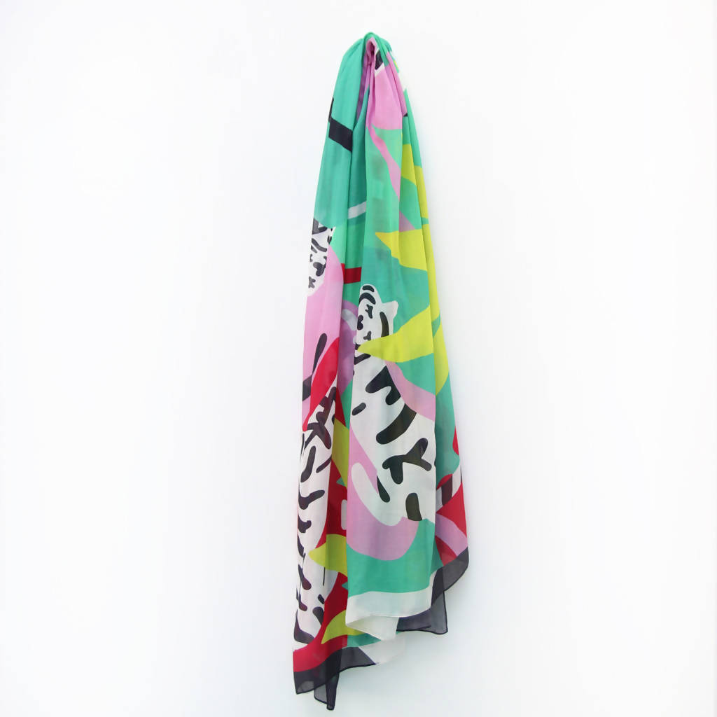 Jungle Warrior Scarf by Marylou Faure