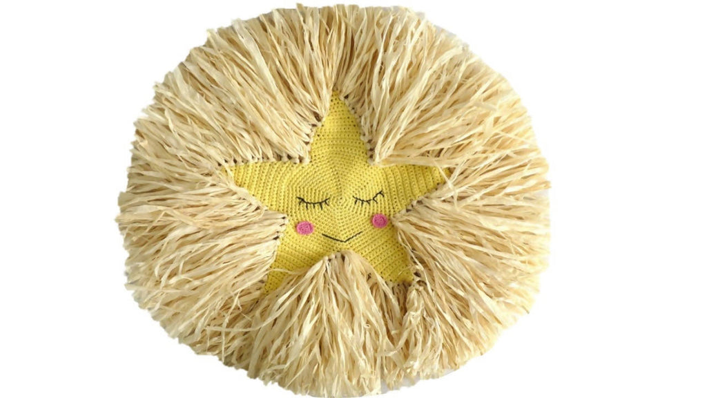 Raffia Star wall hanging