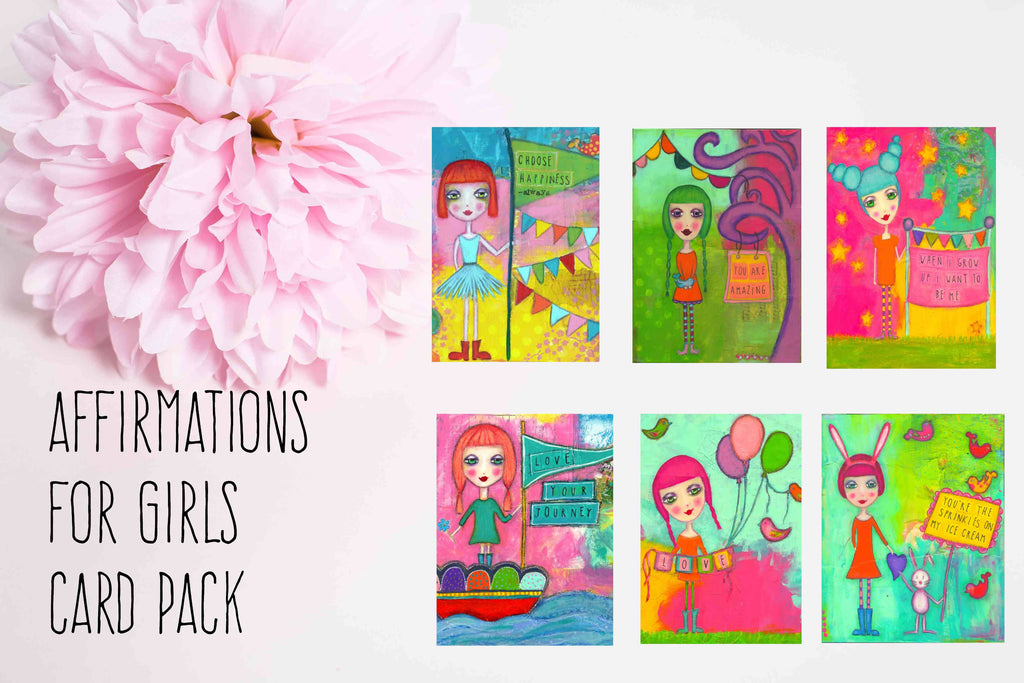 AFFIRMATIONS FOR GIRLS CARD PACK
