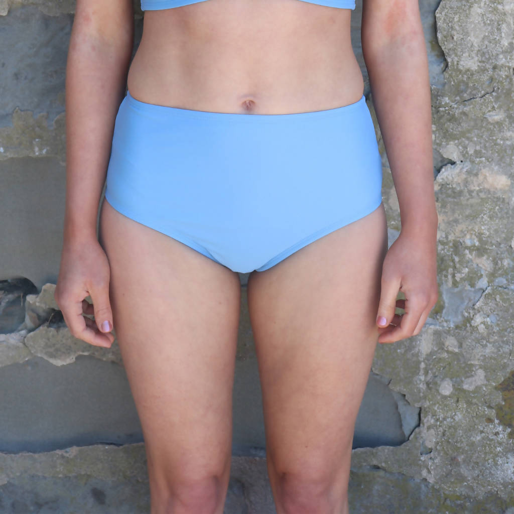 Bikini Bottoms - Pacific High Tide in Palms or Sky Blue