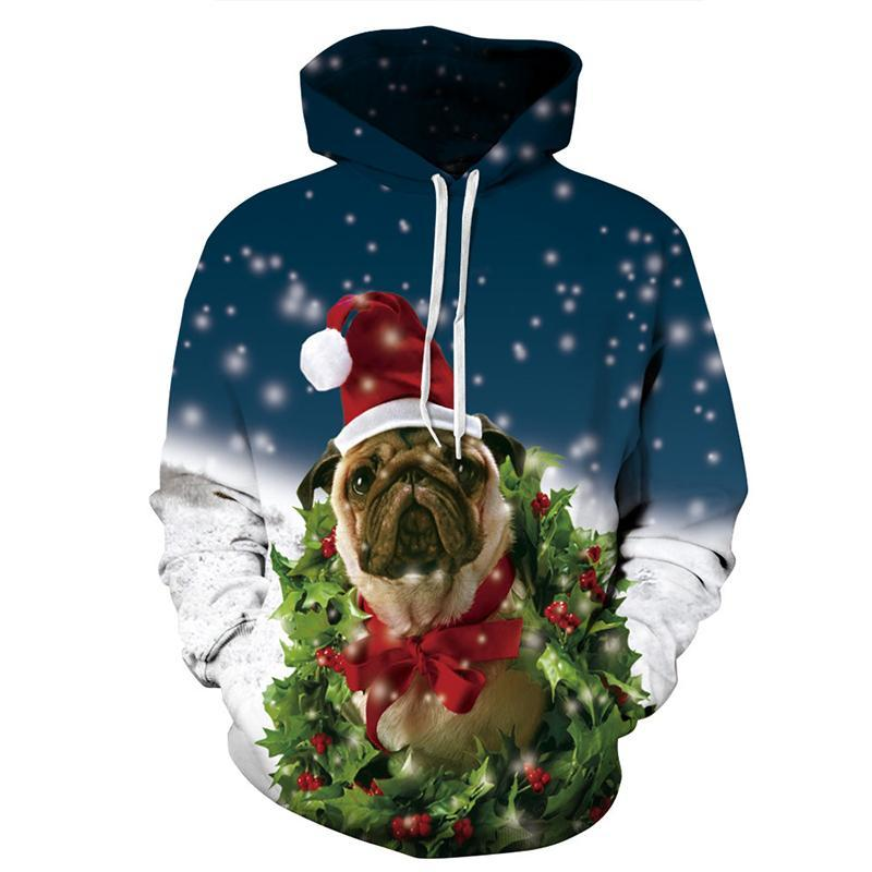 Autumn Printed 3D Christmas Dog Galaxy Hoodies Sweater for Men Women - DUO MEN STORE