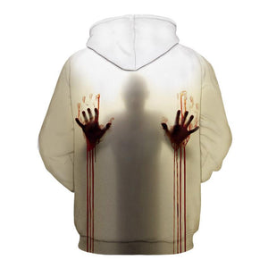 Women Men Halloween Ghost 3D Printing Long Sleeve Hooded Sweaters - DUO MEN STORE