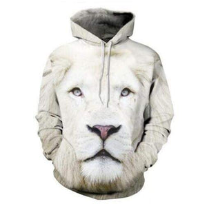 Men Women Hoodies Hip Hop Sweater 3D Tiger Lion Printed Style - DUO MEN STORE