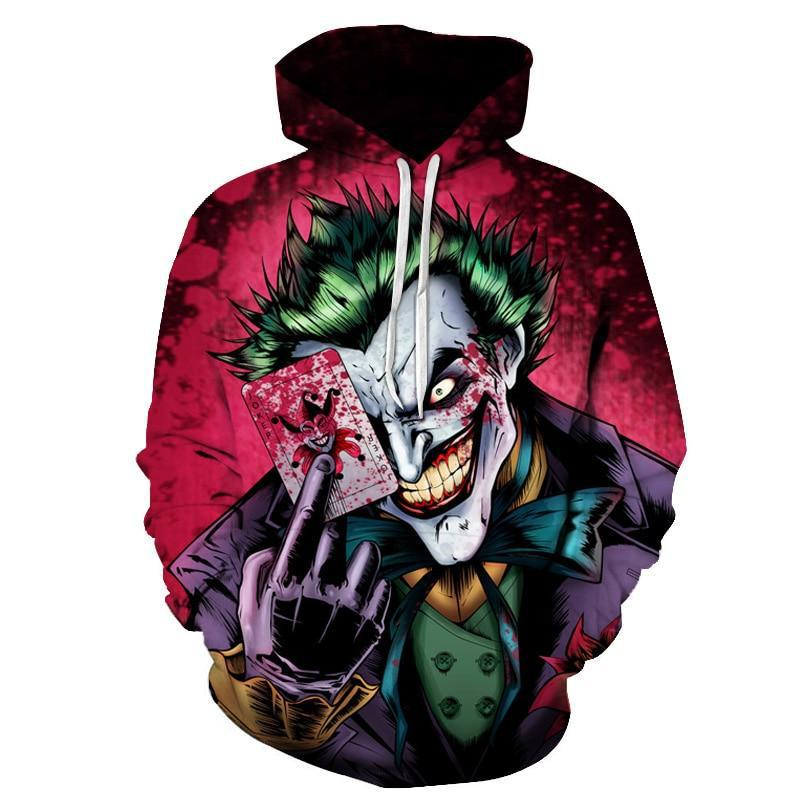Joker Poker 3D Printed Hoodies Sweater Streetwear for Men Women - DUO MEN STORE