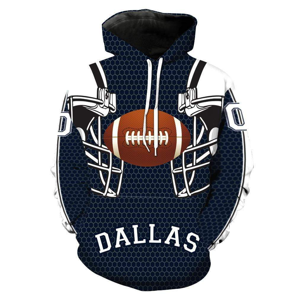 Dallas Cowboy 3D Printed Hoodies for Men - DUO MEN STORE