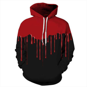 Blood Drip Printing Hooded 3D Sweater for Men - DUO MEN STORE