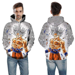 Cartoon Hoodie Seven Dragon Ball Z Pocket Hooded Sweater Sleeves for Men - DUO MEN STORE
