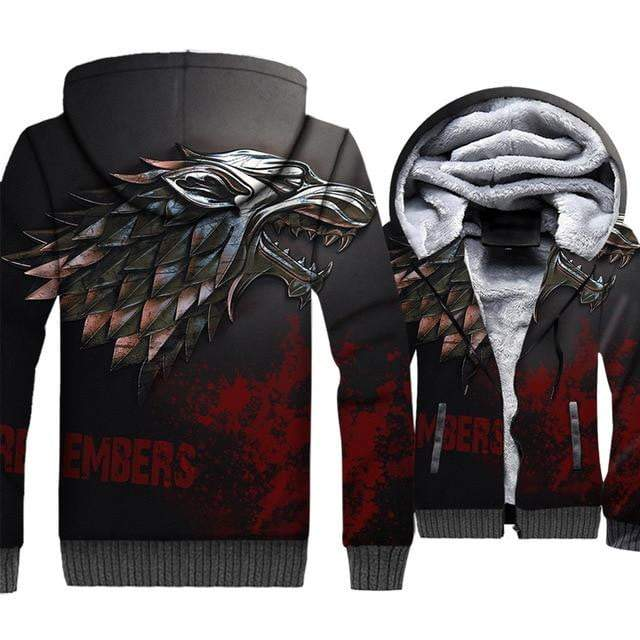 Game Of Thrones Hoodies Winter Is Coming Print 3D for Men - DUO MEN STORE