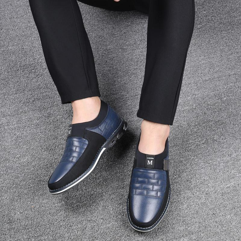 Genuine Leather Men Casual Shoes Brand Mens Loafers Moccasins Breathable Slip - DUO MEN STORE