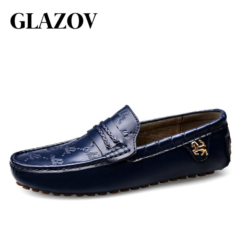 High Quality Genuine Leather Men Shoes Soft Moccasins Loafers Fashion - DUO MEN STORE